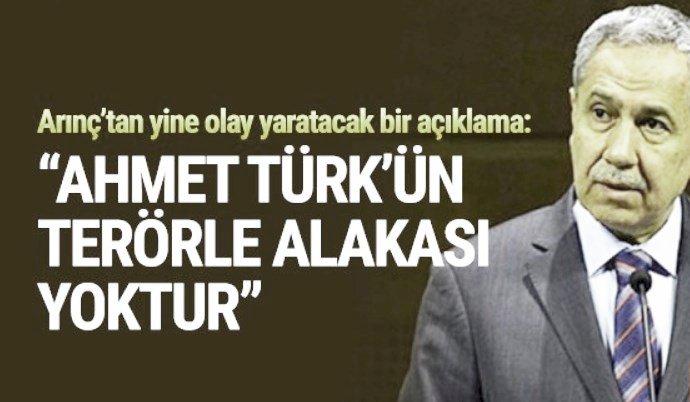 Arınç'tan  Ahmet Türk Açıklaması