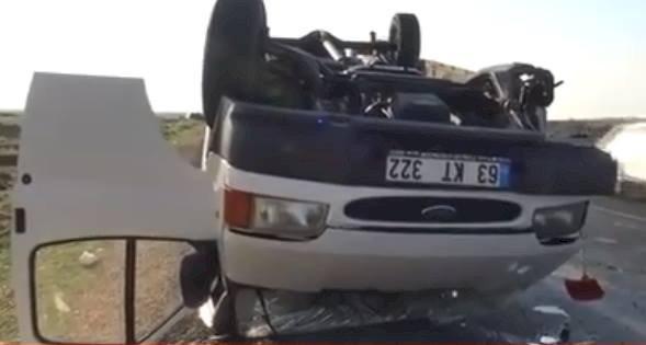 Urfa'da Trafik Kazası 2 Kişi Yaralandı