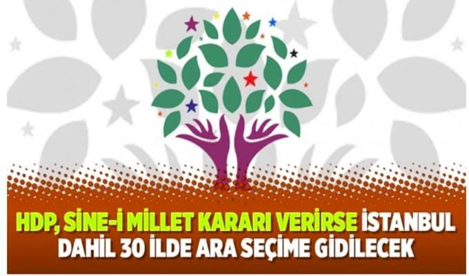 HDP'de Sine i Millet Seçeneği Masada
