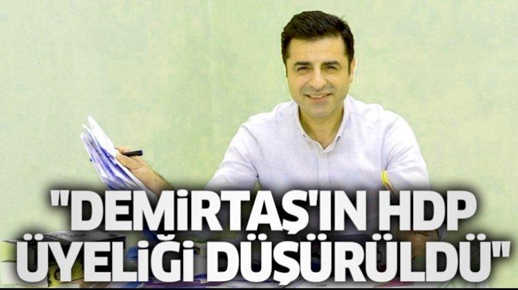 Demirtaş'ın Parti Üyeliği Düşürüldü