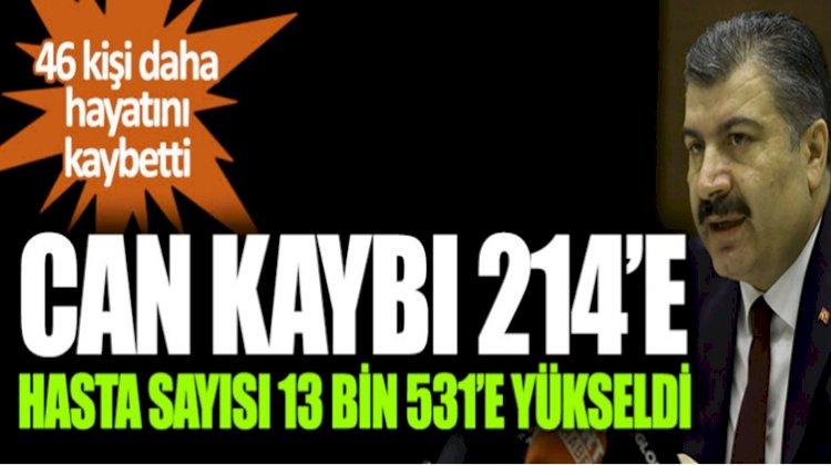Türkiye'de Virüs Salgınına İlişkin Son Rakamlar