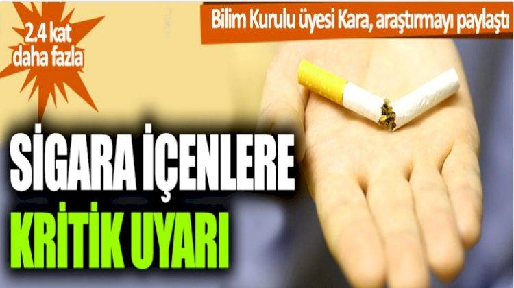 Sigara İçenlerde Korona Riski Daha Yüksek