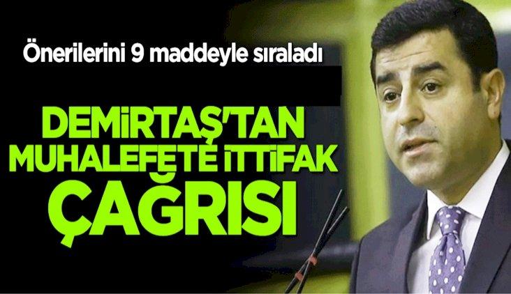 Demirtaş'tan Muhalefete İttifak Önerisi