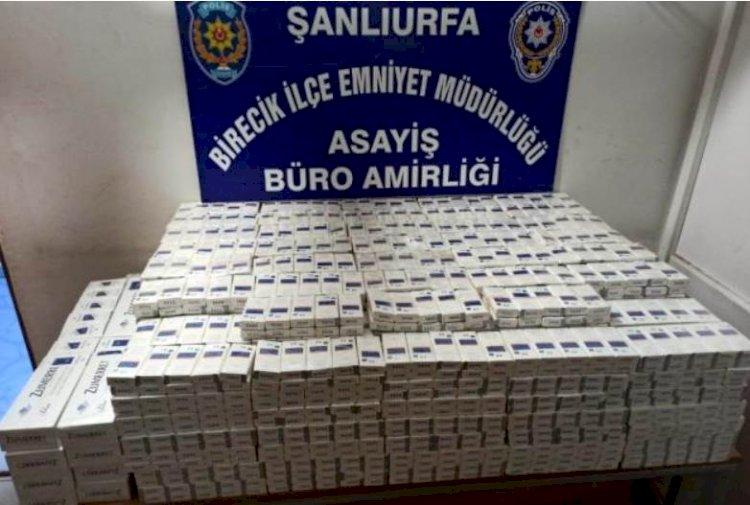 Urfa'da  Gümrük Kaçağı Sigara Ele Geçirildi