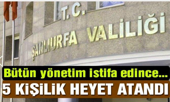 Şanlıurfaspor'a Valilik Kararıyla 5 Kişilik Heyet Atandı