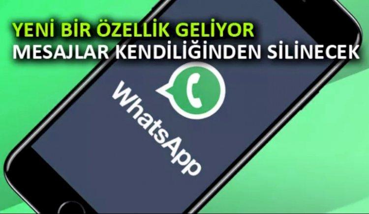 WhatsApp Mesajları Otomatik Olarak Silinecek