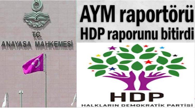 AYM Raportörü HDP Çalışmasını Tamamladı