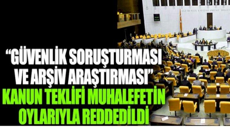 AKP'nin Kanun Teklifi Muhalefete Takıldı
